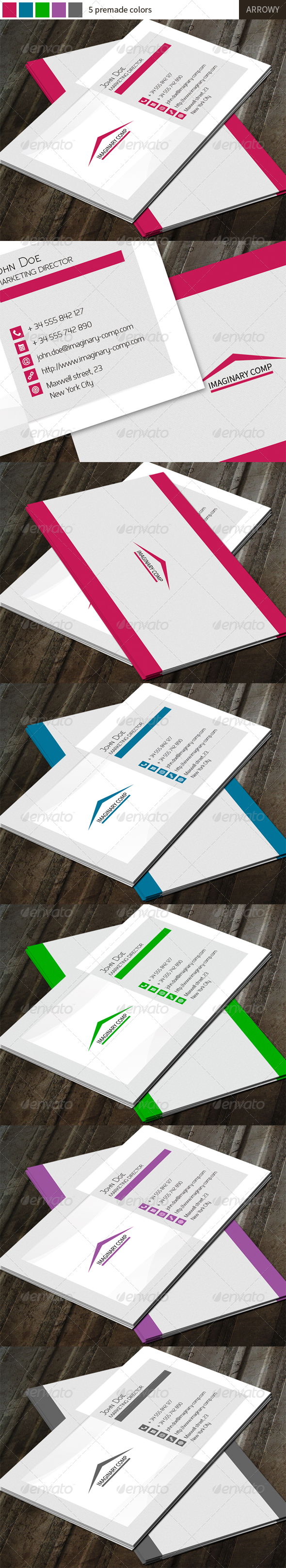 GraphicRiver Arrowy Business Card 5876782