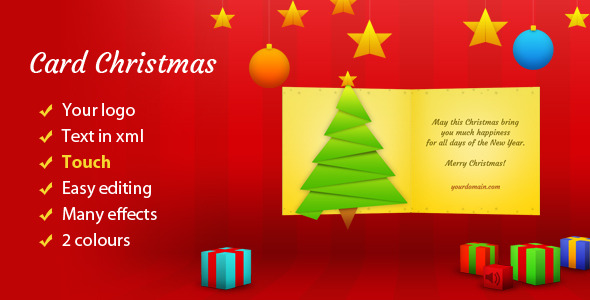 Show your customers how you value for them with this beautiful and elegant Christmas card. There are several animations, including parallax! You can modify all
