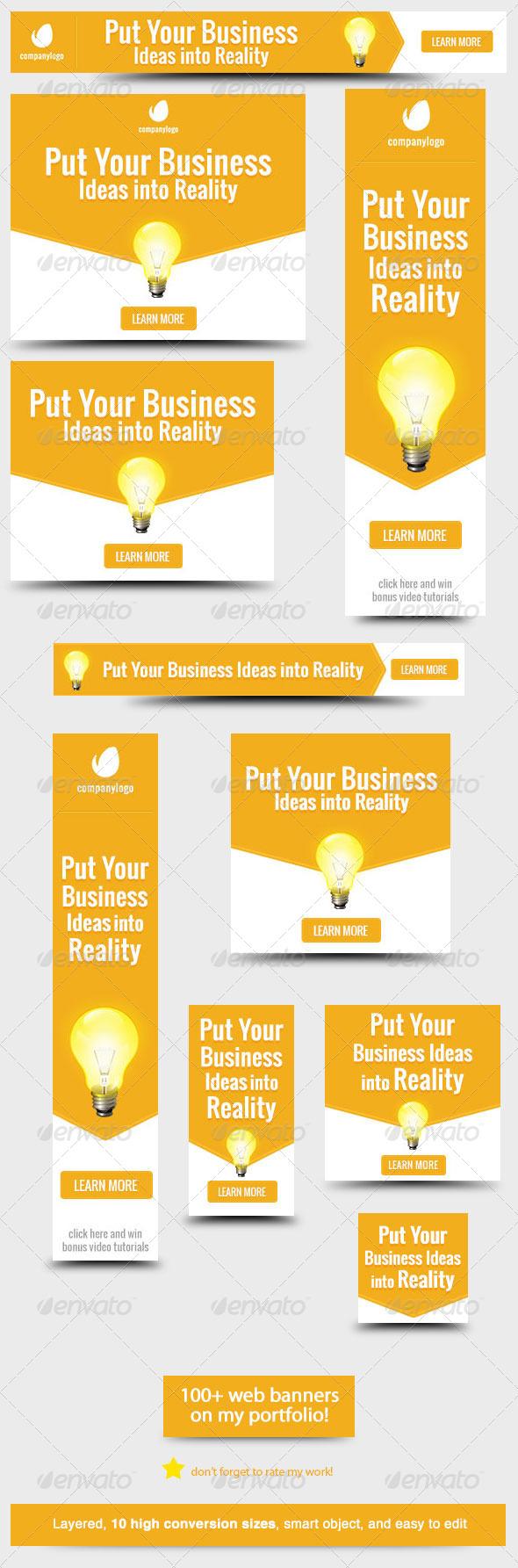 GraphicRiver Business Idea Web Banner Design 5916977