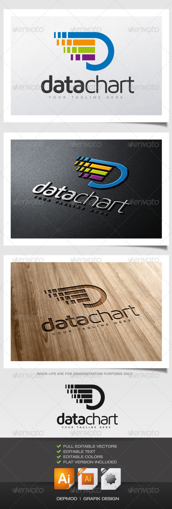 Data Chart Logo - Abstract Logo Templates