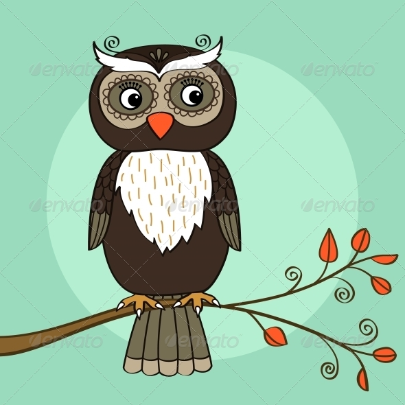 GraphicRiver Owl Tree 5917022