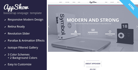 ThemeForest AppShow Onepage Bootstrap HTML Template 5917043