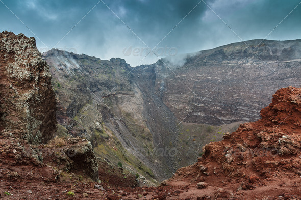 Vesuvius crater  - Stock Photo - Images