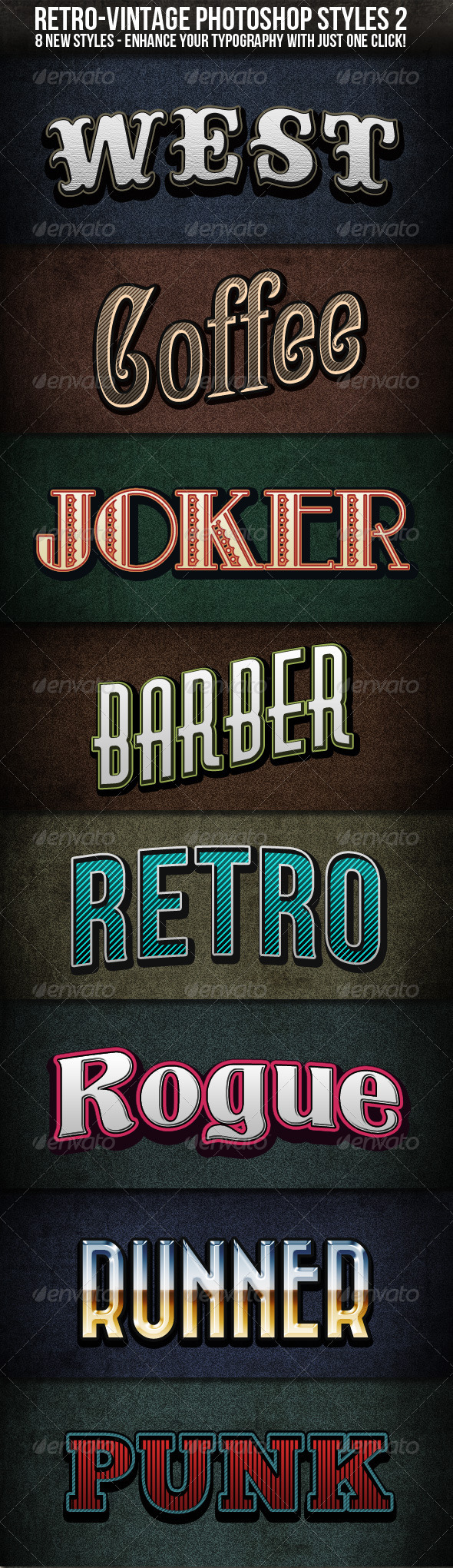 Graphic River Retro-Vintage Styles 2 Add-ons -  Photoshop 541891