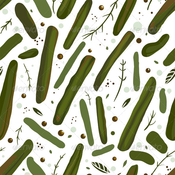 GraphicRiver Green Canned Spicy Beans Seamless Pattern 5917377