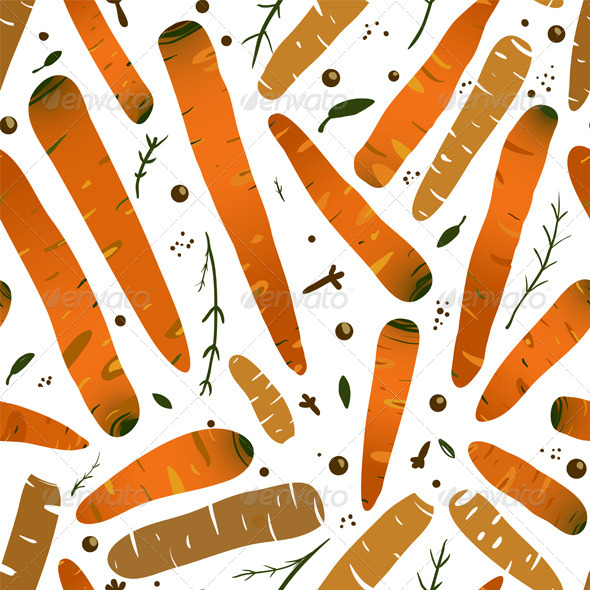 GraphicRiver Orange Canned Spicy Carrots Seamless Pattern 5917385