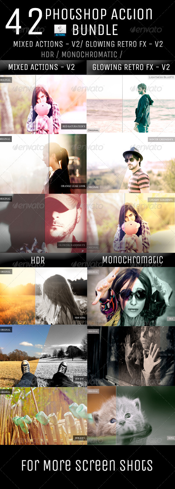 GraphicRiver 42 in 1 Action Bundle 5917396