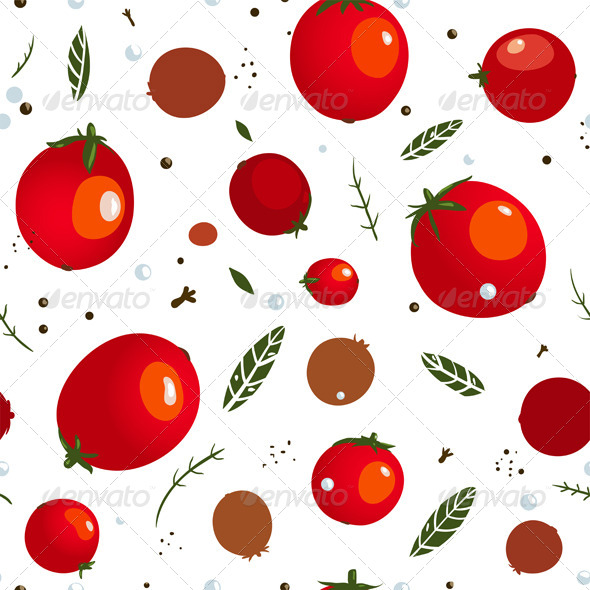 GraphicRiver Rad Canned Spicy Tomato Seamless Pattern 5917403