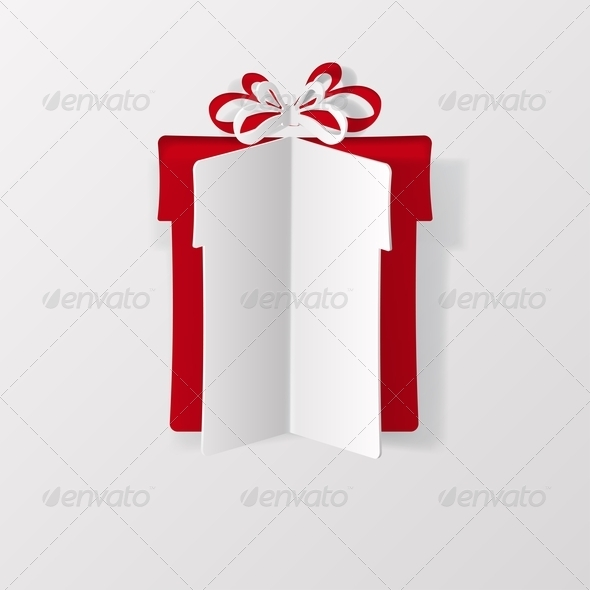 GraphicRiver Gift Box Cut from Paper 5917405