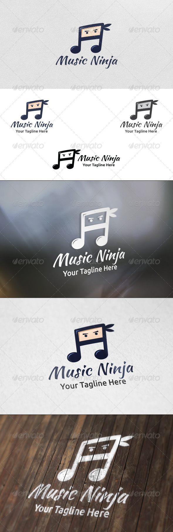 GraphicRiver Music Ninja Logo Template 5918371