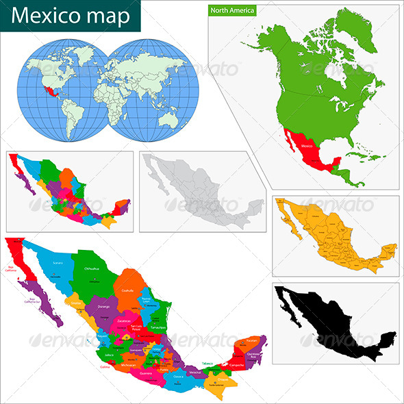 GraphicRiver Mexico Map 5918473