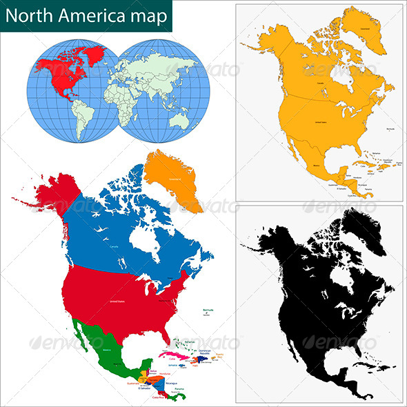 GraphicRiver North America Map 5918926