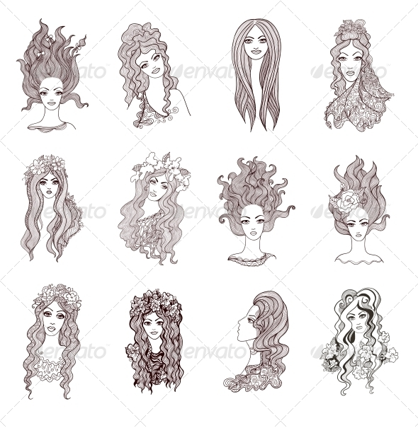 GraphicRiver Collection of Artistic Girls 5918929