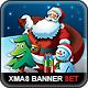 Santa Claus & Friends Christmas Web Banner Set - GraphicRiver Item for Sale