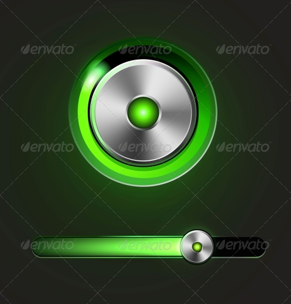 GraphicRiver Glossy Media Player Button and Track Bar 5919072