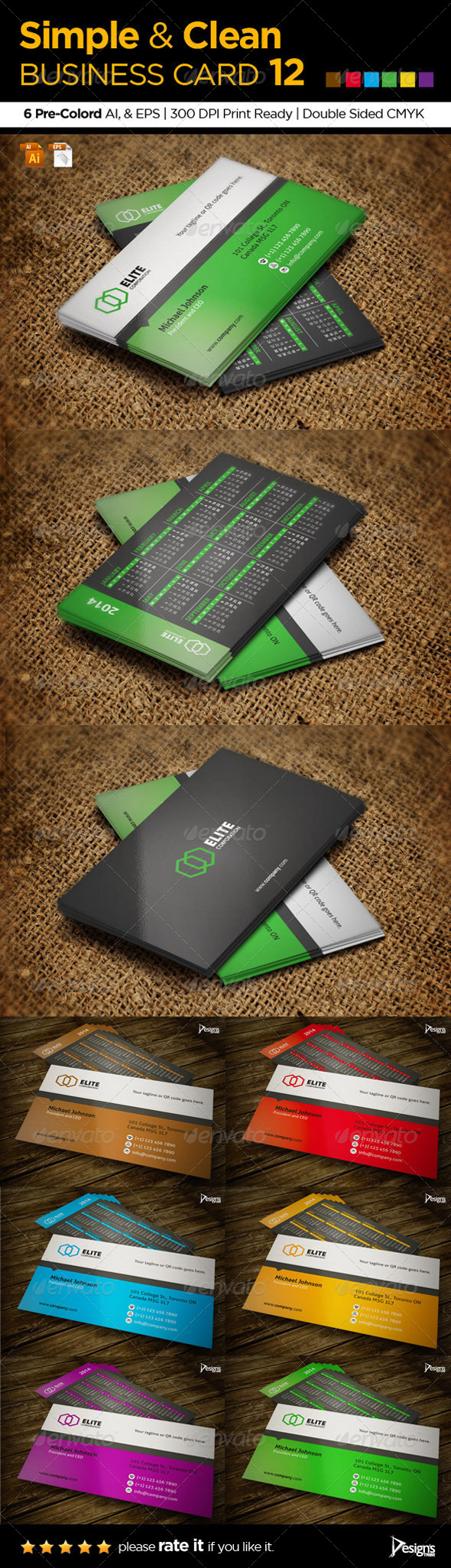 GraphicRiver Simple and Clean Business Card 12 5889334