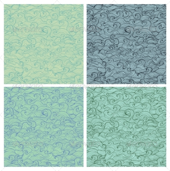 GraphicRiver Set of Vector Seamless Patterns 5919192