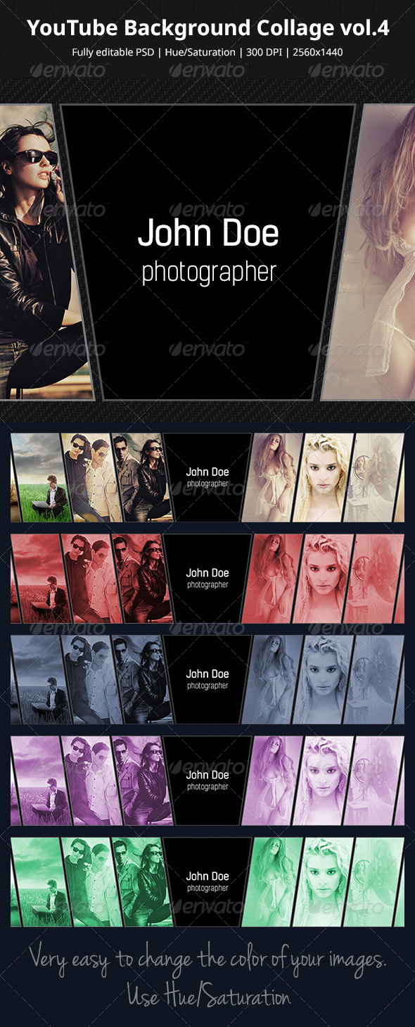 GraphicRiver YouTube Background Collage vol.4 5919197