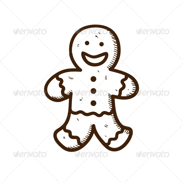 GraphicRiver Gingerbread Cookie Man 5919332