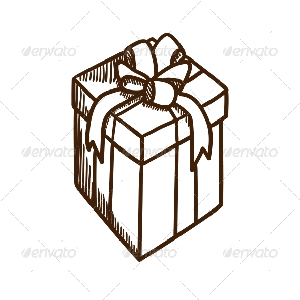 GraphicRiver Present Box with Ribbon and Bow 5919365