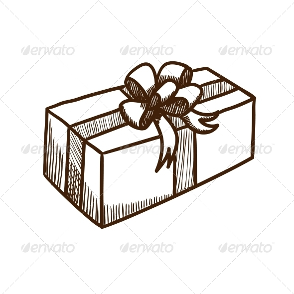 GraphicRiver Present Box with Ribbon and Bow 5919367