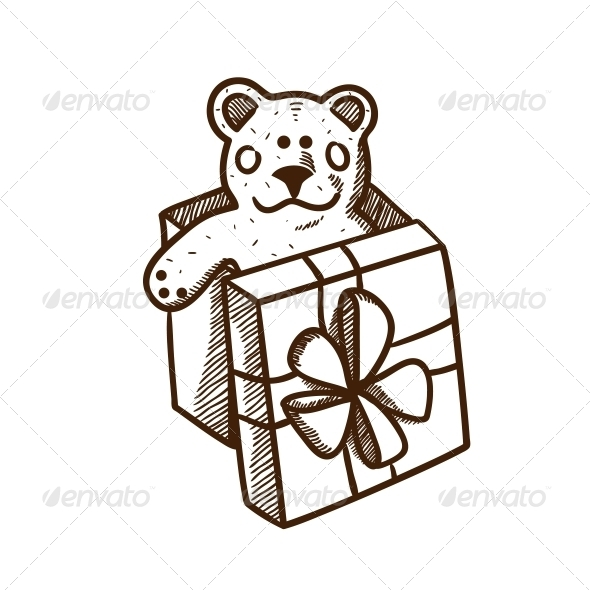 GraphicRiver Present Box with Teddy Bear 5919448