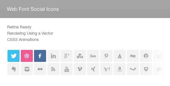 Web Font Social Icons - CodeCanyon Item for Sale