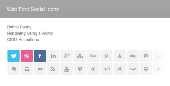 CodeCanyon Web Font Social Icons 5919456