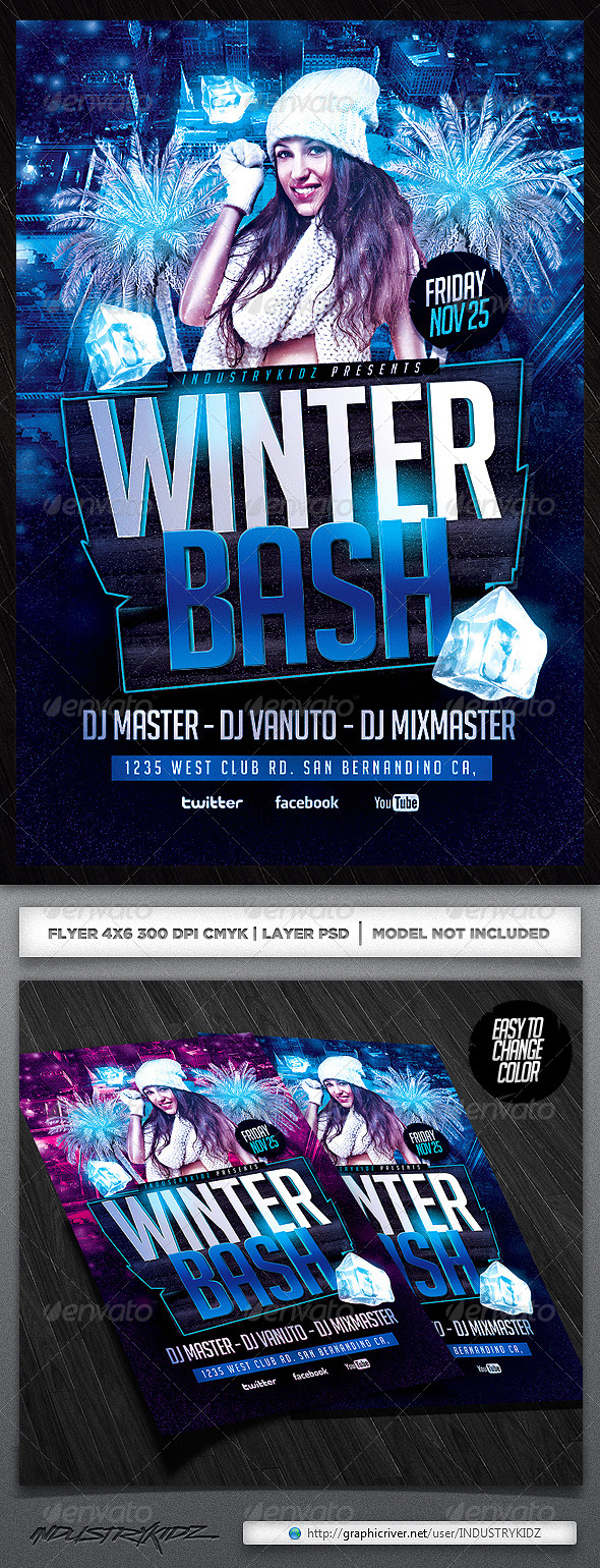 GraphicRiver Winter Bash PSD Flyer 5919513