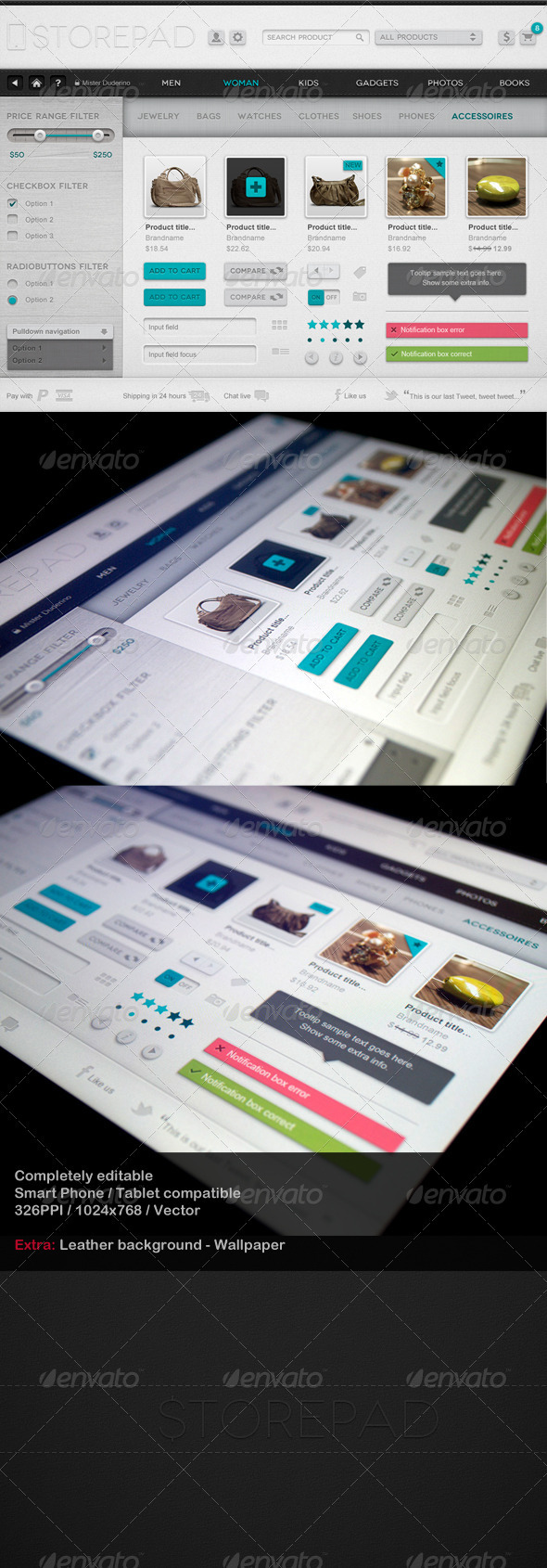 Storepad Touch Elements - User Interface - User Interfaces Web Elements