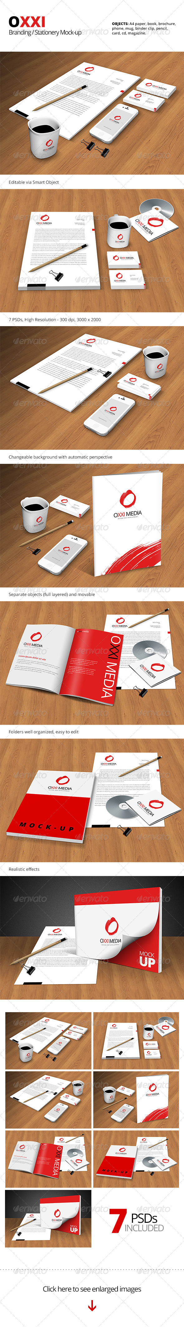 GraphicRiver OXXI Branding Stationery Mock-up 5919731