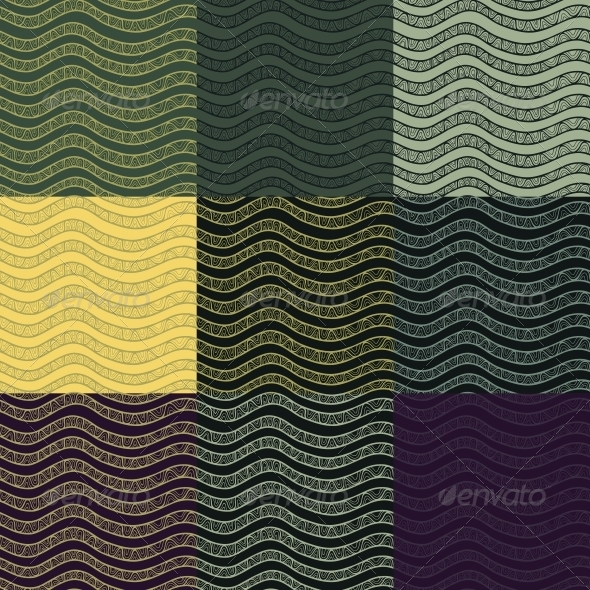 GraphicRiver Set of Abstract Seamless Patterns 5919735