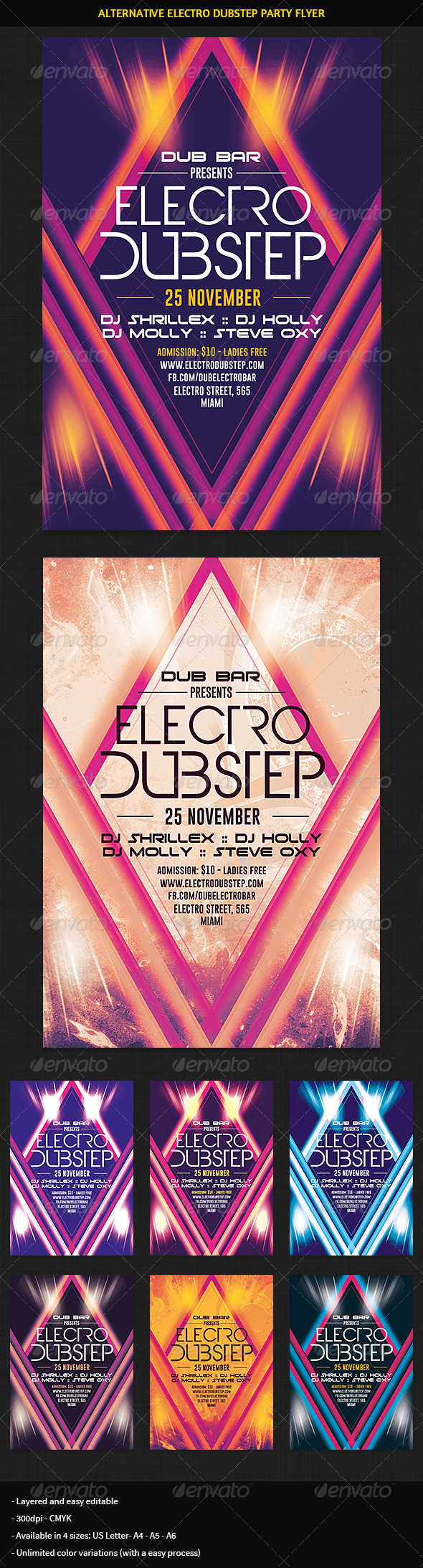 GraphicRiver Alternative Electro Minimal Party Flyer 5919898