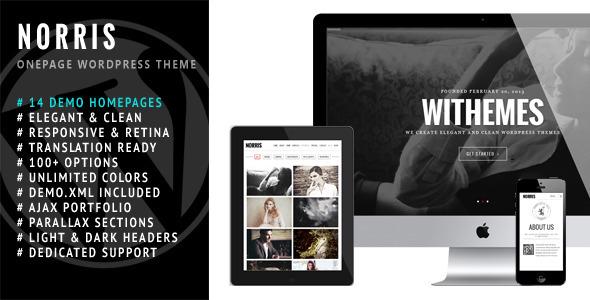 ThemeForest Norris Elegant Onepage Wordpress Theme 5843777