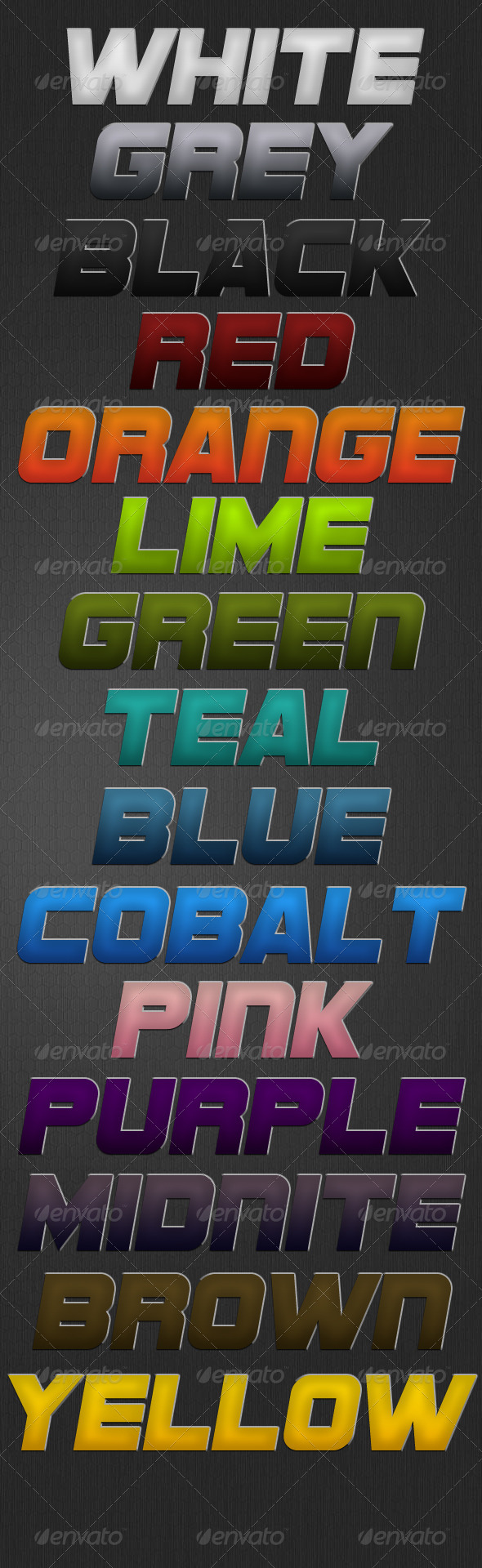 Soft Touch Style - Text Effects Styles