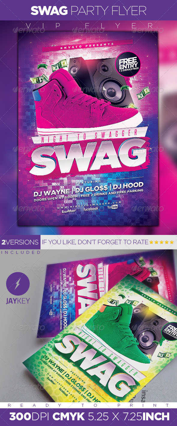 GraphicRiver Night to swagger Party Flyer 5920683
