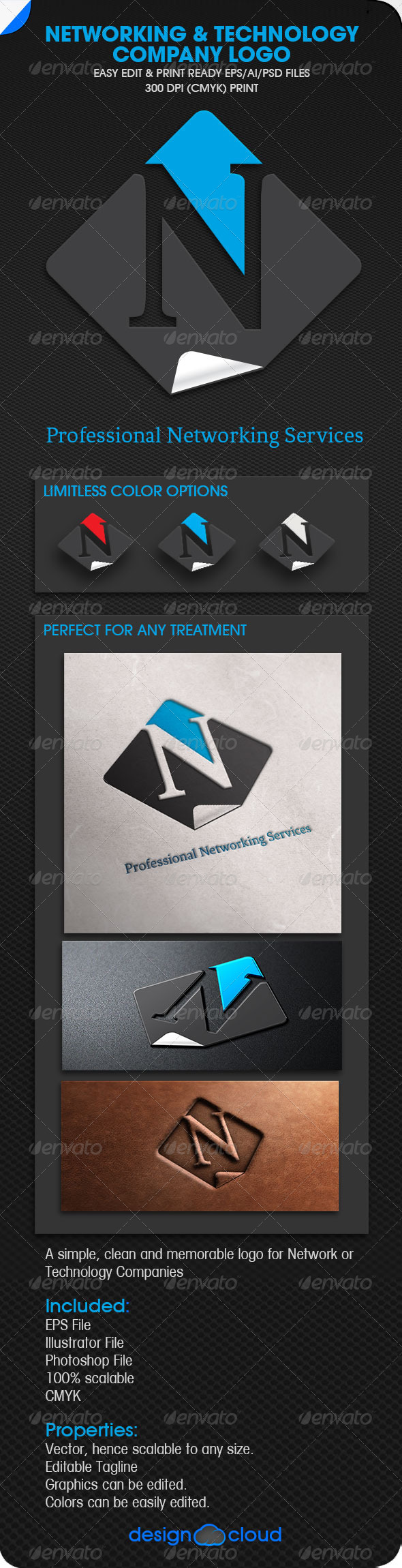 GraphicRiver Networking and Technology Logo 5905222