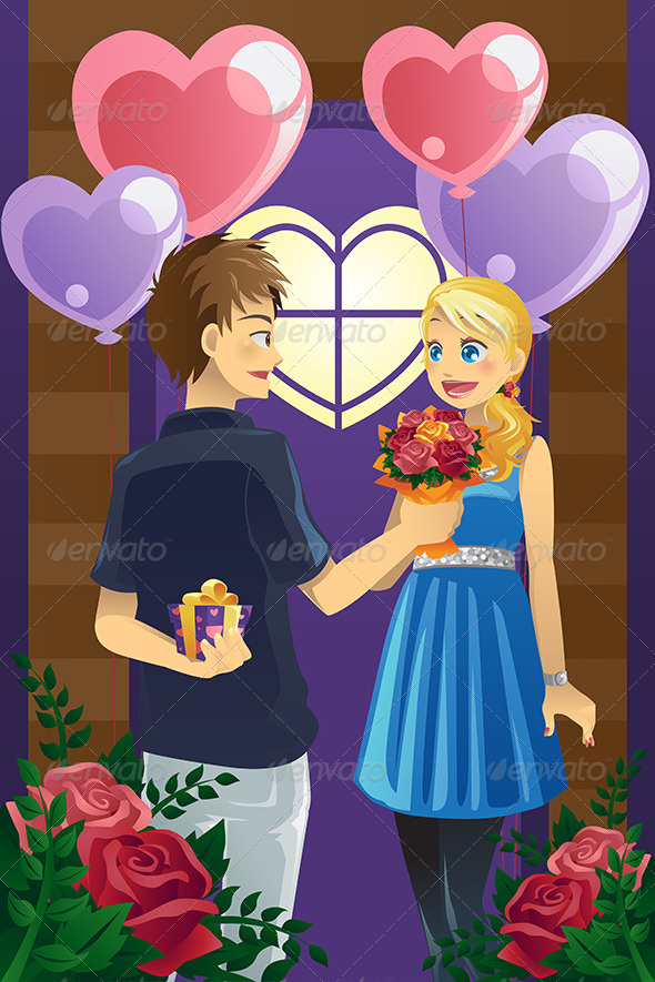 GraphicRiver Couple on Valentine s Day 5920896