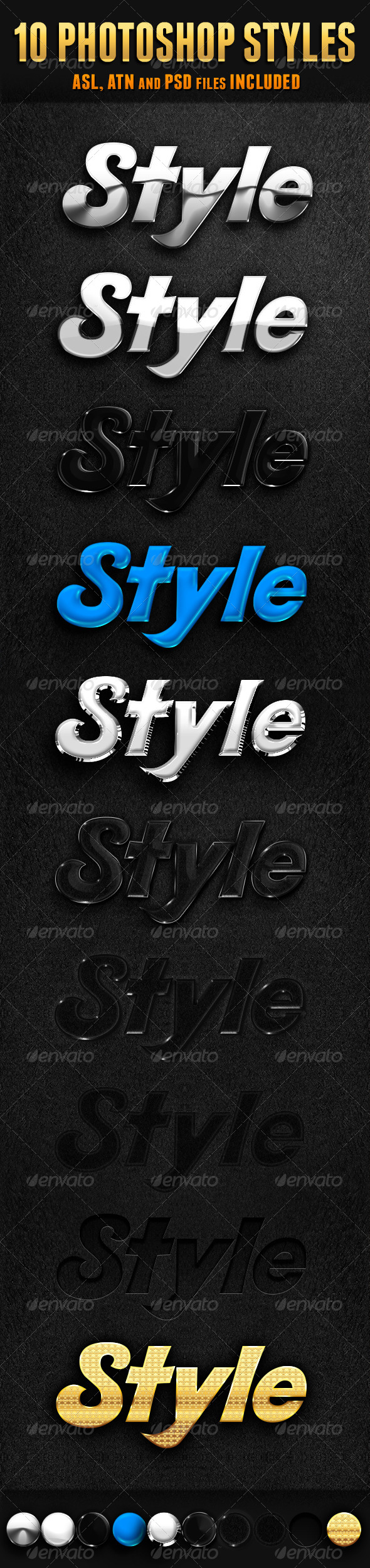 GraphicRiver 10 Photoshop Styles 5920908