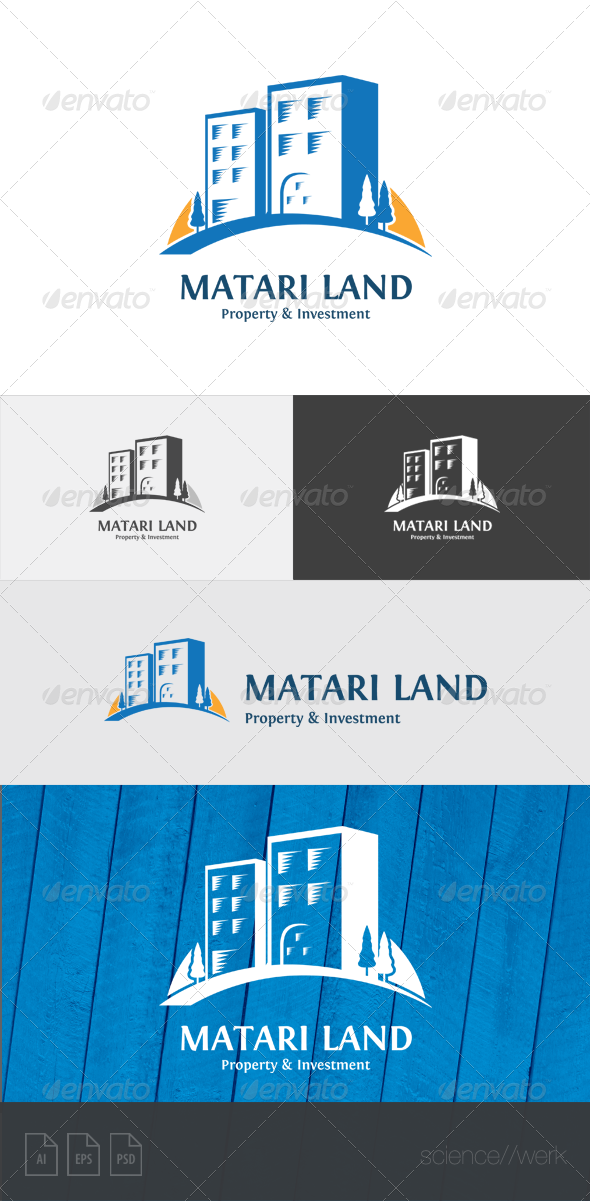 GraphicRiver Matari Land Property Logo Template 5920911