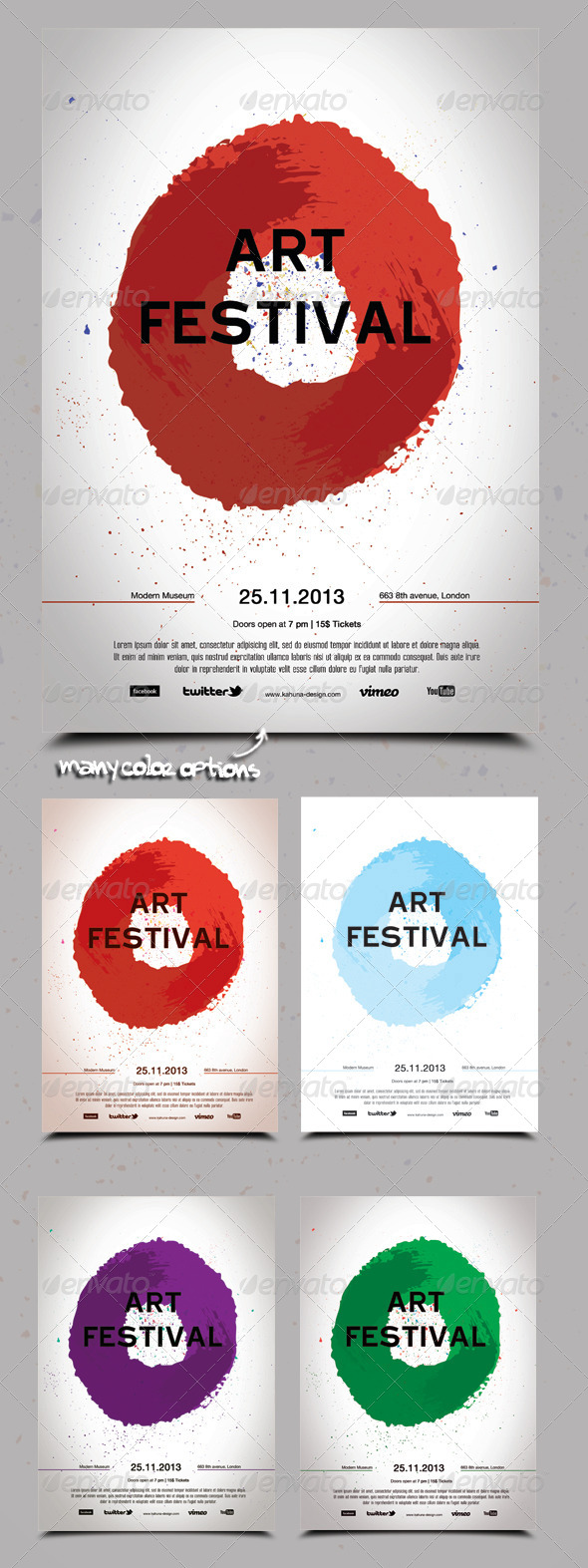GraphicRiver Art Festival Poster Flyer 5920971