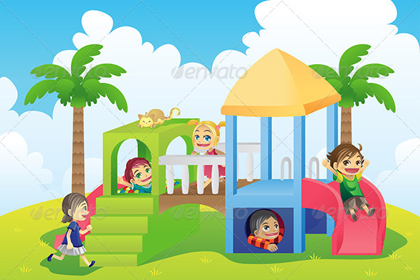 GraphicRiver Children in Playground 5921007