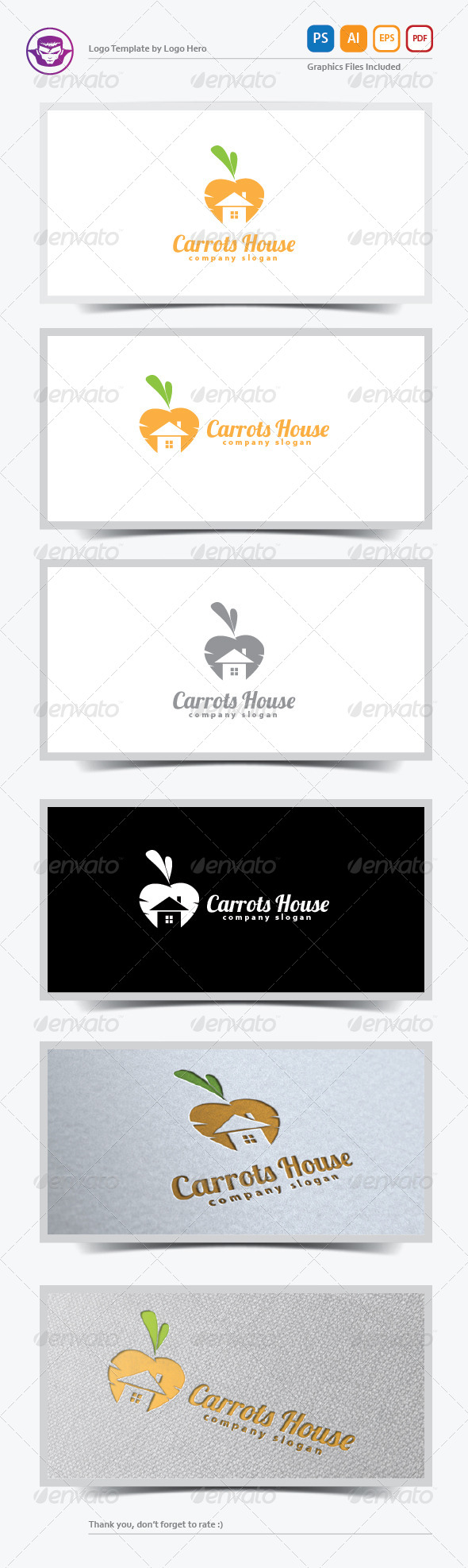 GraphicRiver Carrots House Logo Template 5921236