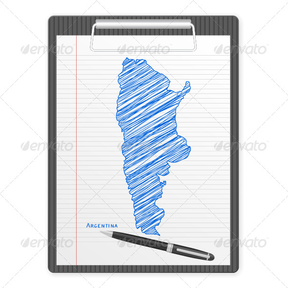 GraphicRiver Clipboard of Argentina Map 5921286