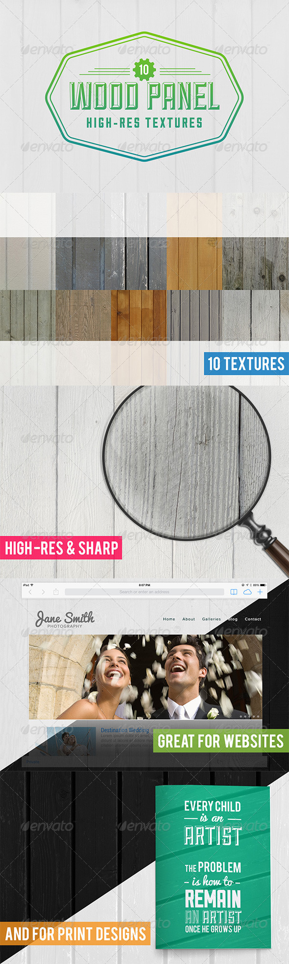 10 Wood Panel Texture Pack - Wood Textures