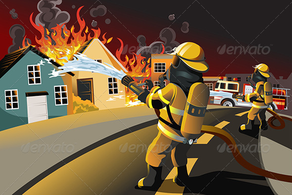 GraphicRiver Firefighters 5921543