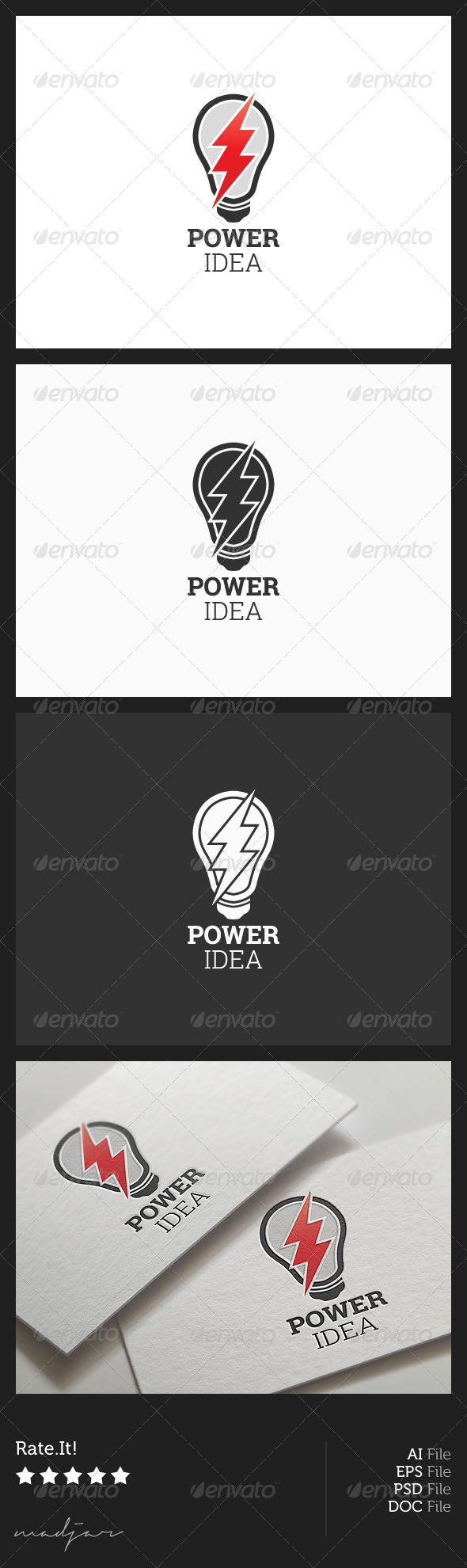 GraphicRiver Power Idea Logo 5921546