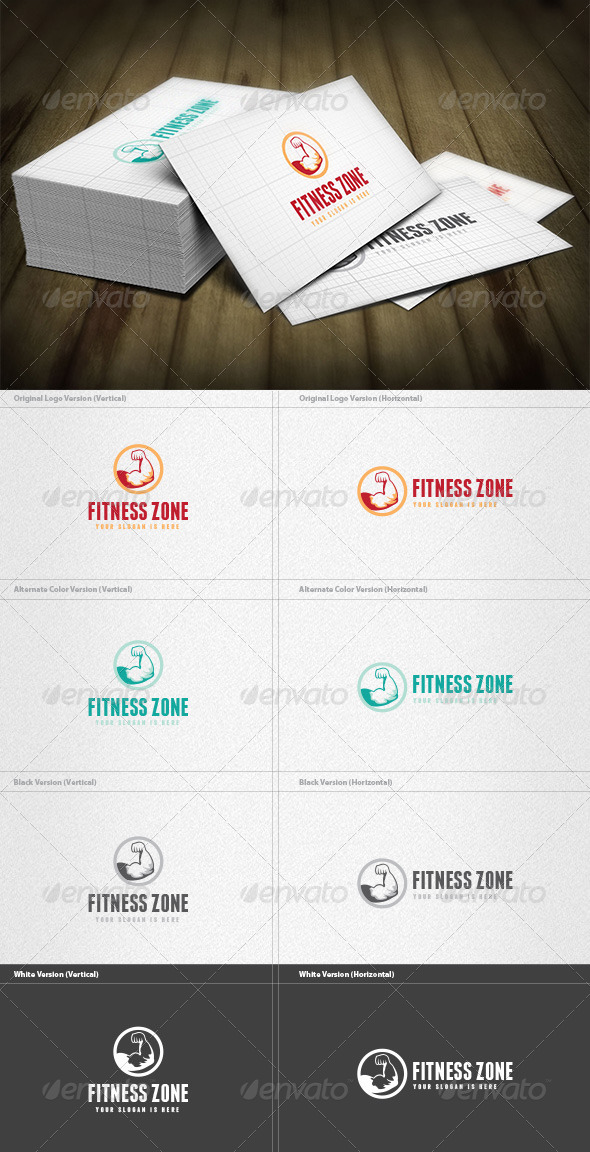 GraphicRiver Gym & Fitness Logo 5921823