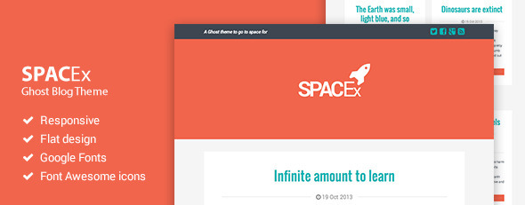 ThemeForest Spacex Responsive Ghost Theme 5903439