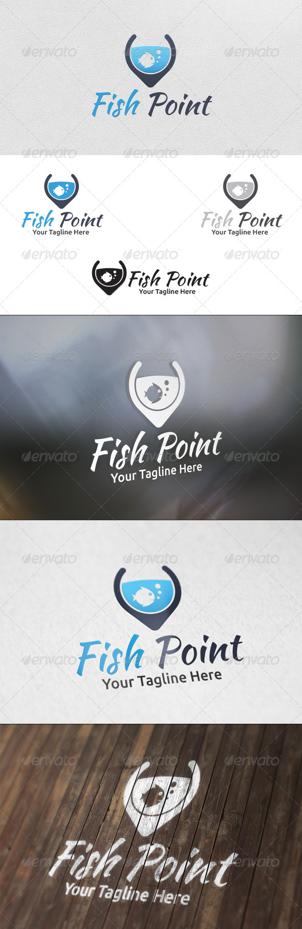 Fish Point Logo Template